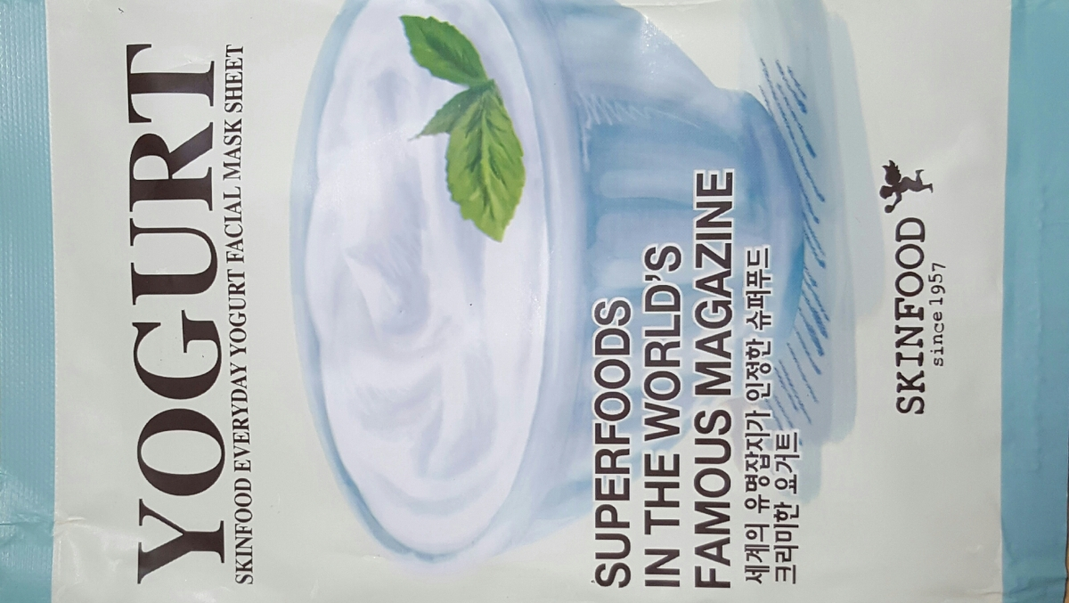 Skinfood Everyday Yogurt Facial Mask Sheet Review