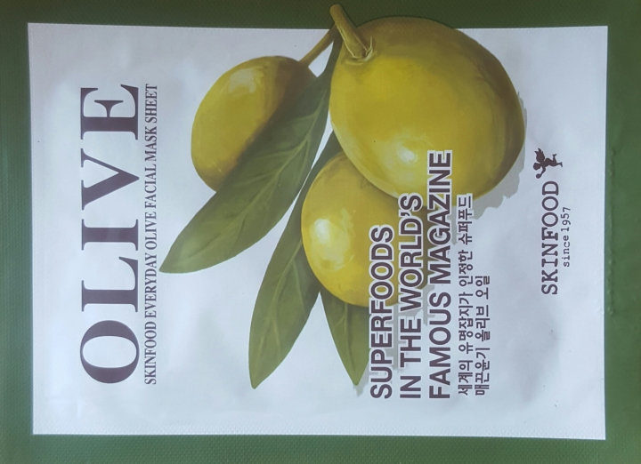 Skinfood Everyday Olive Facial Mask Sheet Review