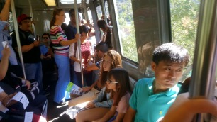 Tram up to the Getty Center