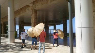 Free umbrellas to borrow as parasols