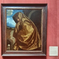 This one was my favorite because I found out through the self-guided iPod tour that Mary Magdalene's cloak is shining because Jesus's light is reflecting upon it. I originally thought that her cloak was just golden. I guess that goes to show how little I know about art.